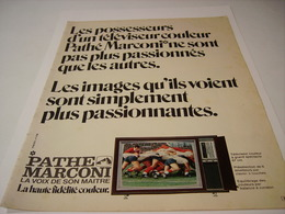 ANCIENNE AFFICHE PUBLICITE TELEVISION  PATHE MARCONI 1971 - Other