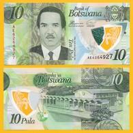 Botswana 10 Pula P-new 2018 UNC - Botswana