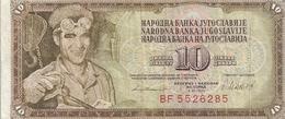 NARODNA BANKA YUGOLAVIJE - 10 DINARA - 4 XI 1981 . N° BF 5526285.. 2 SCANES - Yugoslavia