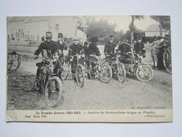 SECTION DE MILITAIRES MOTOCYCLISTES BELGES En FLANDRE Cachet Militaire Triangle Censure Rouge PASSED BY CENSOR N° 1628 - Belgium