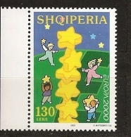 Albanie Shqiperia 2000 N° 2510 ** Europe, Europa, Euro, Pièce De Monnaie, Colonne, Enfants, Cueillette, Jeux, Etoiles - Albania