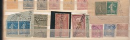 """1866/1945-Bel Ensemble **/ * / §.) Tp Qques Adhérence + Surcharge + Divers De Quoi S""""amuser ...  Dont Tp FRANCE  Surc.. - Serbie"""