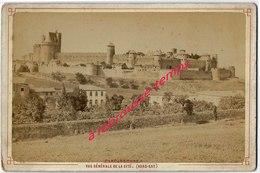 Photo Ancienne -fin XIXe-grand CDV-(CAB) Panorama De Carcassonne - Lieux