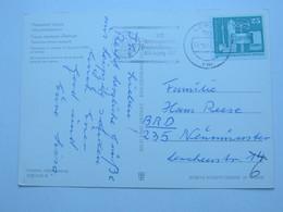 1977 , Leipzig - Graslandkongress , Propagandastempel Auf Karte - DDR