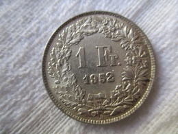Suisse: 1 Francs 1952 - Svizzera