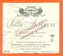 étiquette De Vin Italie - Italia Vino Chianti Classico Villa Antinori 1974 - 75 Cl - Etiketten