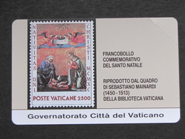 VATICANO SCV 3 - 6003 C&C - FRANCOBOLLO NATALE - NUOVA - Vatican