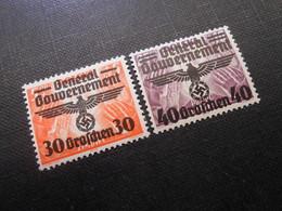 D.R.Mi 30/31*/MLH - Generalgouvernement 1940 - Mi 1,40 € - Occupation 1938-45
