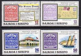 Samoa 1977 Stamp Centenary Set Of 4, MNH, SG 488/91 - Samoa