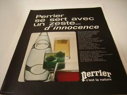 ANCIENNE PUBLICITE UN ZESTE D INNOCENCE 1971 - Posters