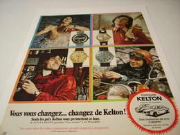 ANCIENNE PUBLICITE MONTRE KELTON  1971 - Autres