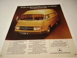 ANCIENNE PUBLICITE UTILITAIRE MERCEDES-BENZ 1971 - Camions