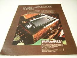 ANCIENNE PUBLICITE CAMERA BOLEX 1971 - Photography