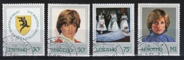 Lesotho 1982 21st Birthday Of Princess Diana Fine Used Set Of Four Stamps. - Lesotho (1966-...)
