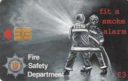 Guernsey Phonecard - £3 Fire Service - Superb Fine Used Condition - Ver. Königreich