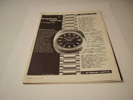 PUBLICITE AFFICHE  MONTRE ETERNAL MATIC  1970 - Jewels & Clocks