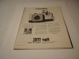 PUBLICITE AFFICHE  APPAREIL PHOTO MINOLTA   1970 - Photography