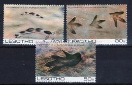 Lesotho 1984 Prehistoric Footprints Fine Used Set Of Three Stamps. - Lesotho (1966-...)