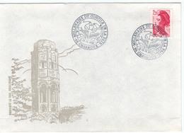 Enveloppe Portant La Tour Charlemagne De Charroux (Vienne) Pour Le Millénaire Du Concile De La Paix 989-1989 -YT N° 2376 - Marcophilie (Lettres)