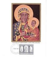 Carte Maximum Card-1966-Vatican-Our Lady (Madonna) Of Czestochova, Jasna Gora (Poland) - Cartes-Maximum (CM)