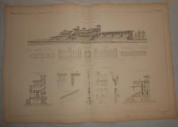 Plan Des Tribunes De Longchamps. Bois De Boulogne. 1869 - Public Works