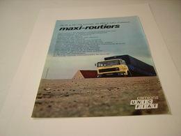 PUBLICITE AFFICHE CAMION UNIC FIAT 1970 - Camions