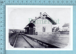 East Angus Quebec - Premiere Gare Erigée En 1882 Remplacer En 1914 Par La Gare Actuel -CPM - Otros