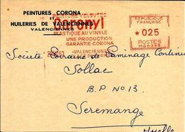 Lettre  EMA Havas Mg Coronyl Huilerie   Theme Peintures Corona ValencienneB/1407 - Marcophilie (Lettres)