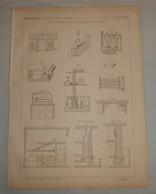 Plan Des Bains Dans Les Habitations Privées. 1869 - Public Works