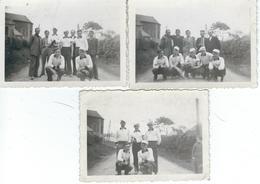 MONTBLIART : Lot De 3 Photos - Le Réveil Des Fagnes - Equipe BALLE PELOTE - 1942 - Dimensions 8.8 / 6.2 Cm - Sivry-Rance