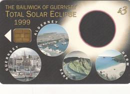 Guernsey Phonecard - £3 Solar Eclipse - Superb Fine Used Condition - Ver. Königreich