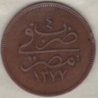 Egypte . 10 Para AH 1277 Année 4 . Sultan Abdul Aziz .KM# 241 - Egypte