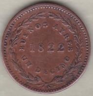 ARGENTINA / BUENOS AIRES . UN DECIMO 1822 . .KM# 1 - Argentine
