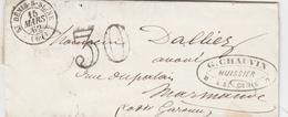France Lettre Taxée 30 St Denis-s-Seine 1862 - 1849-1876: Periodo Classico
