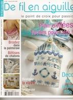 01 De Fil En Aiguille N°64 - Juillet/Aout 2008 - Point De Croix