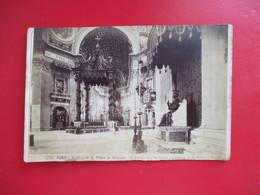 GRANDE PHOTO SUR CARTON  ITALIE ROME ROMA BASILICA DI S.PIETRO IN VATICANO INTERIEURE STATUE EN BRONZE - Photographs
