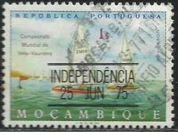 Mozambique Moçambique 1975 World Sailing Championships, Vauriens Class, L M Overprinted INDEPENDENCIA Sailboats Canc - Sailing