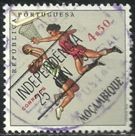 Mozambique Moçambique 1975 Sports Issue Common Design CD48 Women´s Basketball Overprinted INDEPENDENCIA Canc - Basketball