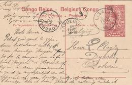 Congo Belge Entier Postal Illustré Pour La Belgique 1914 - Belgisch-Kongo