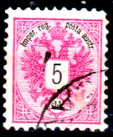 Levante-Austriaco-34 - 1883-86 - Y&T N. 10 (o) - Senza Difetti Occulti. - Oriente Austriaco