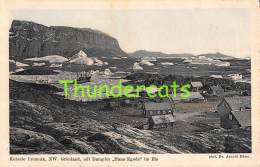 CPA  GRONLAND KOLONIE UMANAK NW GRONLAND MIT DAMPFER HANS EGEDE IM EIS - Greenland
