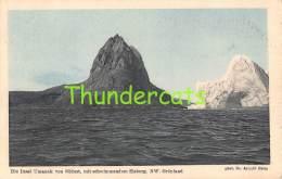 CPA  GREENLAND  GRONLAND - DIE INSEL UMANAK VON SUDOST MIT SCHWIMMENDEN EISBERG NW - Greenland