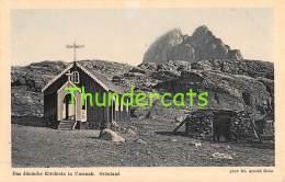 CPA  GREENLAND  GRONLAND -   DAS DANISCHE KIRCHLEIN IN UMANAK - Greenland