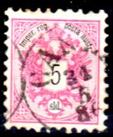 Levante-Austriaco-35 - 1883-86 - Y&T N. 10 (o) - Senza Difetti Occulti. - Oriente Austriaco