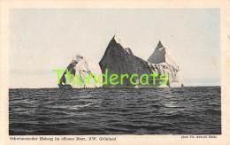CPA  GREENLAND  GRONLAND -   SCHWIMMENDER EISBERG IM OFFENEN MEER NW - Groenland