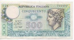 BILLET DE BANQUE ITALIE 500 LIRE 1.28 /  DPR 12-2-1974 / EDM 2-4-1979 - [ 2] 1946-… : Républic