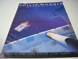 ANCIENNE PUBLICITE CIGARETTE PHILIP MORRIS  1985 - Tobacco (related)
