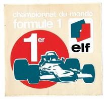 Autocollant - Automobile - ELF - Championnat Du Monde Formule 1 - 15 X 14 Cm - - Autocollants