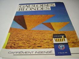 ANCIENNE PUBLICITE CIGARETTE GAULOISE BLONDE  1985 - Tabac (objets Liés)