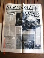 """14 JUILLET 1944, N° 12 De GERMINAL,"""" Hebdo De La Pensée Socialiste Française"""" Dans L'orbite Du RNP De Marcel DEAT - Journaux - Quotidiens"""